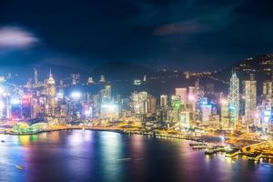 Luftaufnahme von Hong Kong City, China foto