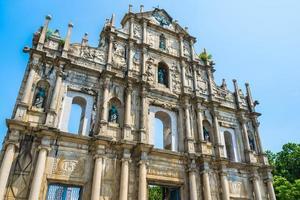 st. Paul Kirche in Macau Stadt foto