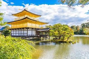 Kinkakuji-Tempel oder goldener Pavillon in Kyoto, Japan foto