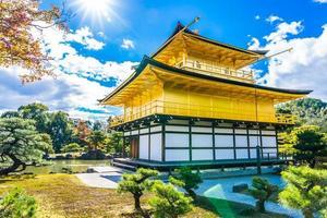 Kinkakuji-Tempel oder der goldene Pavillon in Kyoto, Japan foto