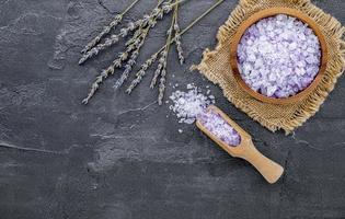 Lavendelzuckerpeeling foto