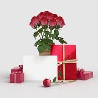 glückliche Valentinstag 3d rendern Dekorationen