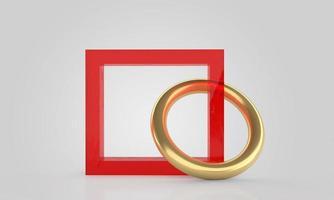 minimalistische 3D-Darstellung abstrakter geometrischer Formen foto