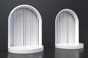 geometrische Form minimale Designelemente, 3D-Rendering foto