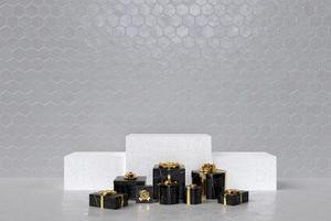 3D-Konzept-Rendering der Geschenkboxen foto
