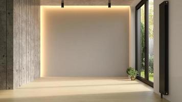 Innenraum eines modernen Wohnzimmers im 3D-Rendering foto