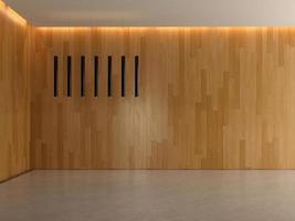 Innenraum eines leeren Raumes im 3D-Rendering