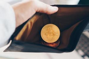 Bitcoin-Münzsymbol des digitalen Geldes der Kryptowährung