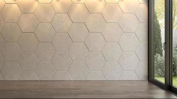 Innenraum eines leeren Raumes im 3D-Rendering foto