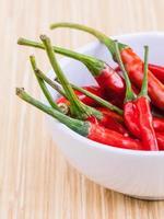 Chilis in einer Schüssel foto