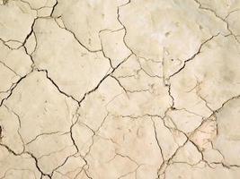 trockener und rissiger Boden foto