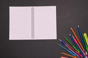 Notizbuch und Schreibwaren foto