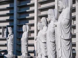 buddhistische Statue im Bongeunsa-Tempel in der Stadt Seoul, Südkorea foto