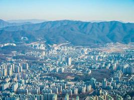 Luftaufnahme der Stadt Seoul, Südkorea