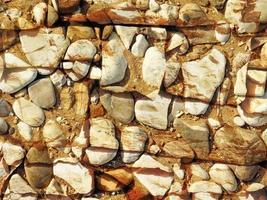 Detail der Außensteinmauer für Hintergrund oder Textur