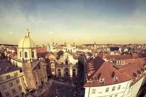 Prag, Tschechische Republik 2018 - krizovnicke namesti Platz bei Sonnenuntergang