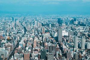Luftaufnahme der Stadt Osaka in Japan