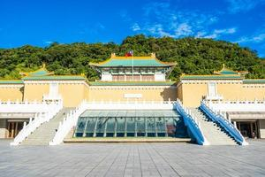 das nationale Palastmuseum in der Stadt Taipeh, Taiwan foto