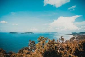 Blick vom Standpunkt Matsee in der Provinz Chumphon, Thailand