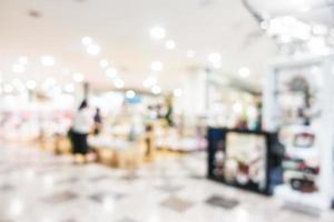 abstrakt verschwommenes Einkaufszentrum Interieur