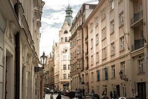 Prag, Tschechische Republik 2016 - Maiselova Straße im jüdischen Viertel foto