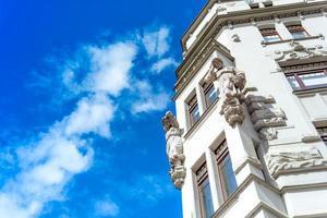 Fassade eines alten Gebäudes foto