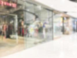 abstrakt defokussiertes Einkaufszentrum Interieur foto