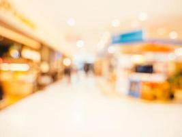 abstrakter defokussierter Einkaufszentrumhintergrund foto