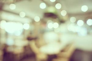 defokussierter Coffeeshop- und Restauranthintergrund foto
