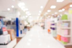 defokussierter Einkaufszentrumhintergrund foto