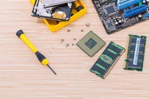 Computer-Upgrade-Elemente foto