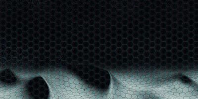 Technologie 3d Illustration der abstrakten sechseckigen Landschaft