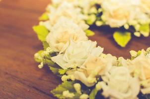 Nahaufnahme des Blumenarrangements