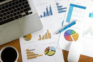 Finanzdokumente auf einem Schreibtisch