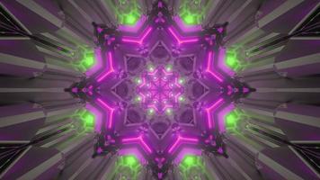 3D-Illustration des blumenförmigen Tunnels foto