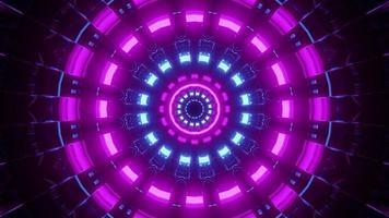3D-Illustration von beleuchtetem abstraktem Licht in Kreisform foto