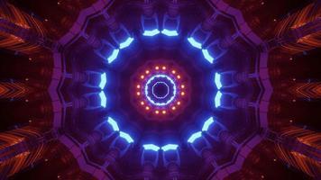futuristische fluoreszierende Verzierung 3d Illustration foto
