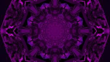 3d Illustration der abstrakten Blumenverzierung in der Dunkelheit foto