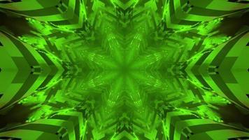 abstrakter Hintergrund des geometrischen Verzierungsmusters des Neons in der 3d Illustration foto