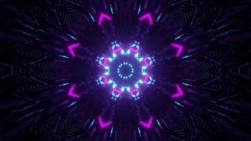 glänzende kristallförmige Verzierung in der Dunkelheit 3d Illustration foto