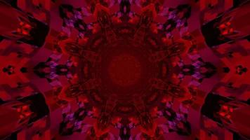 Illustration der roten Kaleidoskopverzierung 3d foto
