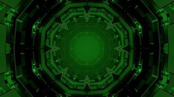 geometrische 3d Illustration der perspektivischen grünen Zierkugelformen foto