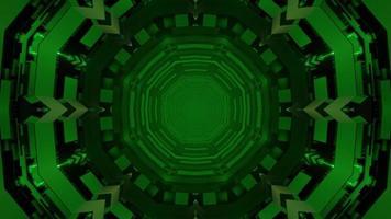 abstrakte kugelförmige 3D-Illustration von grünen sich wiederholenden Zierkreisen foto