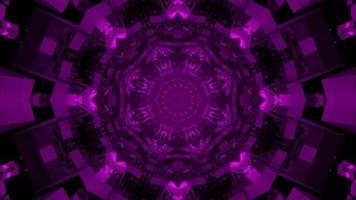 abstrakte 3d Illustration von lila Zierkugeln foto