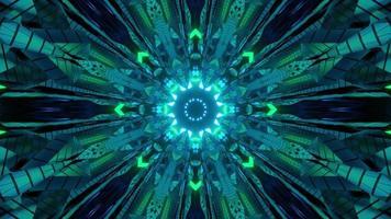 abstrakter futuristischer Hintergrund mit glühender Verzierungs 3d Illustration foto
