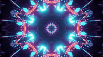 3D-Illustration des kreativen Ziertunnels foto