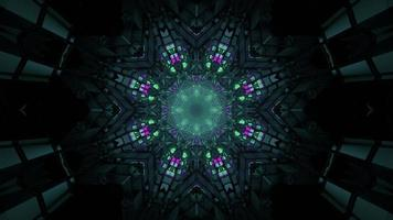 3d Illustration des dekorativen abstrakten Ziertunnels foto