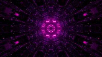 3D-Illustration des Tunnels mit rosa Verzierung foto