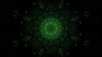 3d Illustration des grünen endlosen Korridors foto