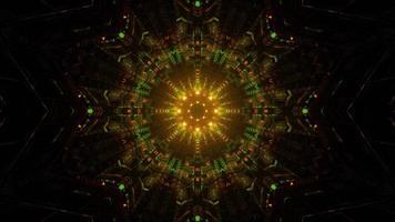 leuchtende 3D-Illustration von sphärischen ornamentalen Mandalamustern foto